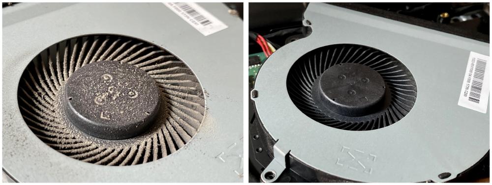 čištění notebooku od prachu, zaneseny ventilátor